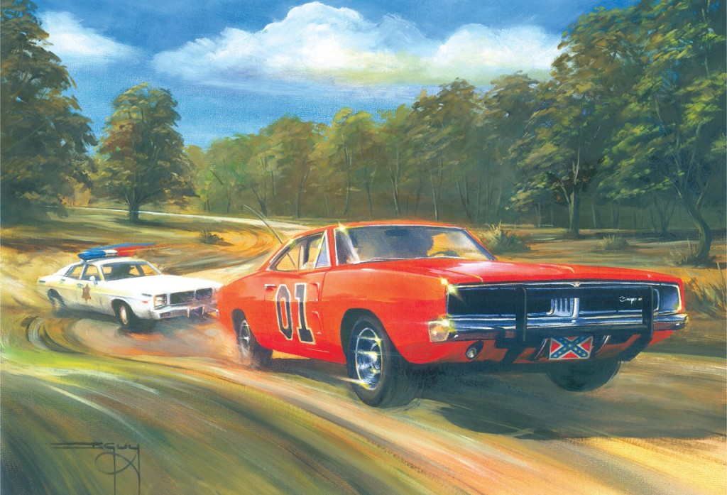 General Lee - by Ian Guy Motoring Artist