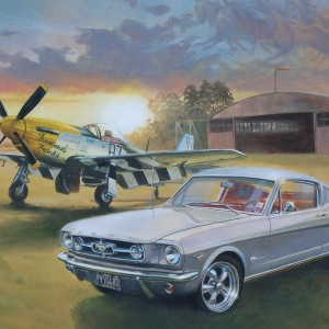 Mustang and Plane