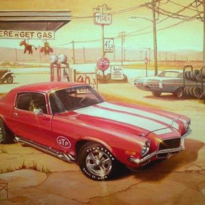 70s-Camaro-painting-by-Ian-Guy