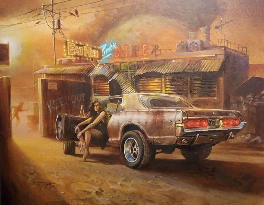 Lowbrow Archives Ian Guy Motoring Artist