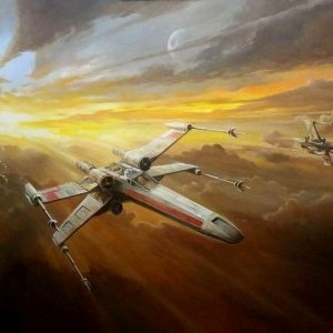 X-Wing-Fighters_Star-Wars_by-Ian-Guy