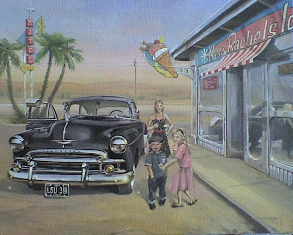 Ice-cream-Shop-n-Chevy-painting