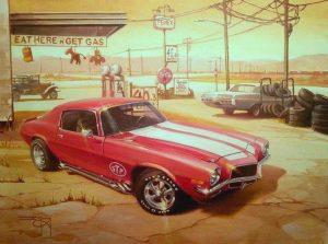 70s-Camaro-painting-by-Ian-Guy