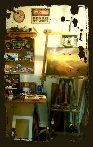 Ian's corner of the studio