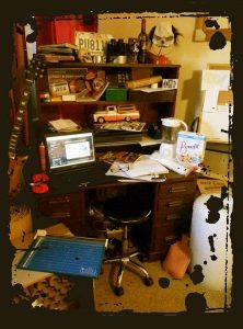 Mandy's corner of the studio