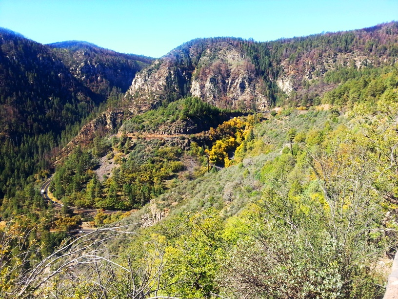 The winding road, 89a, to Sedona